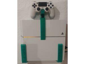 Suport montare perete PS4 + Controller - 3D Print. Printeaza-ti proiectul 3d tau sau alege dintre proiectele special culese pentru tine.