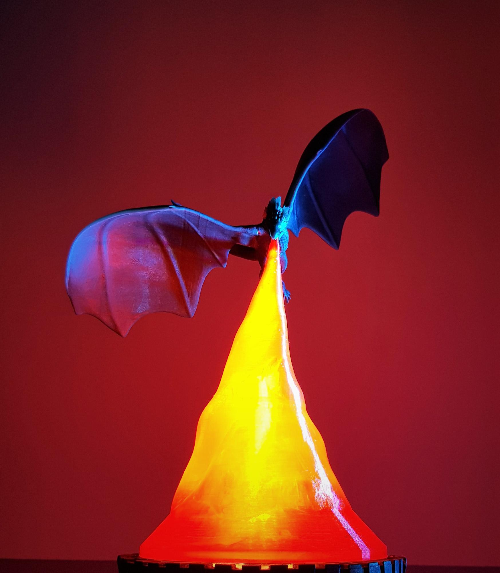Lampa Dragon game of thrones – 3D Print