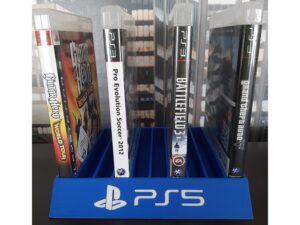 Suport jocuri PS5 - 3D Print. Printeaza-ti proiectul 3d tau sau alege dintre proiectele special culese pentru tine.